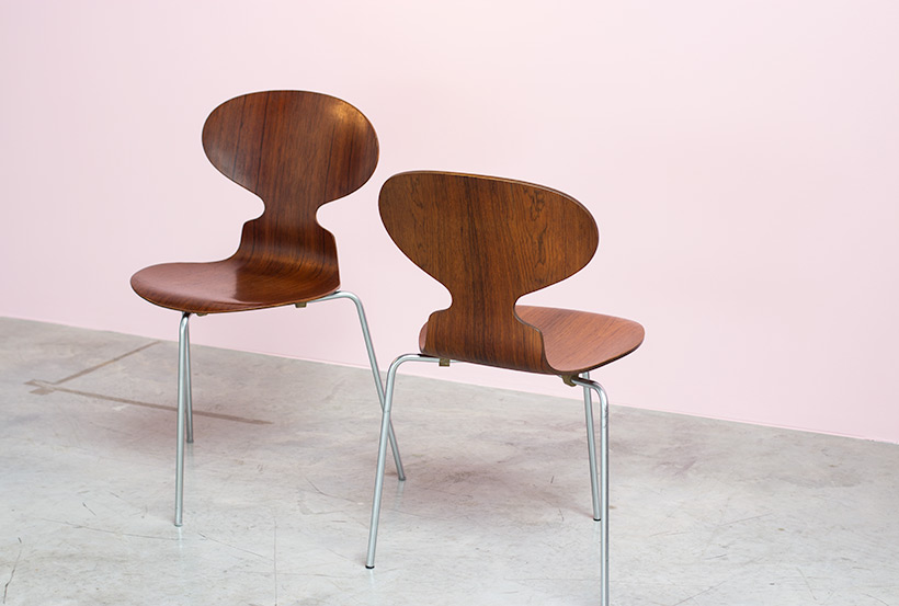 Pair of Rosewood Ant chairs designed by Arne Jacobsen Novo Nordisk img 5