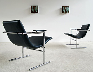 Pair of Rudi Verelst armchairs Oslo for Novalux