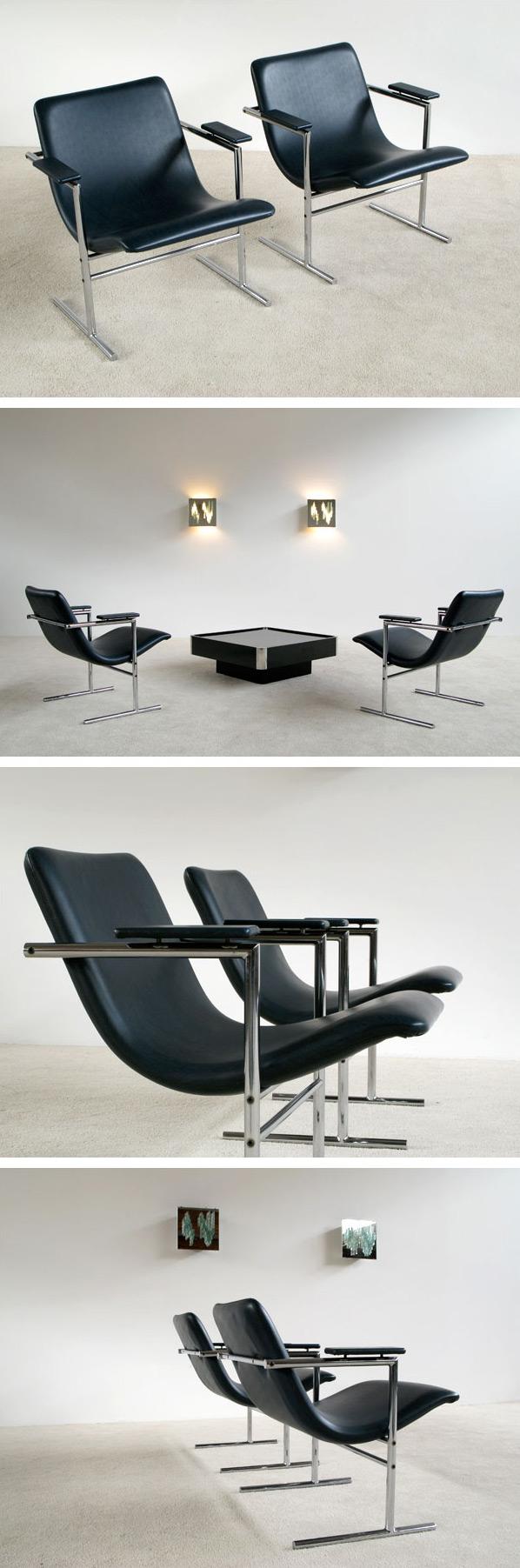 Pair of Rudi Verelst armchairs Oslo for Novalux Large