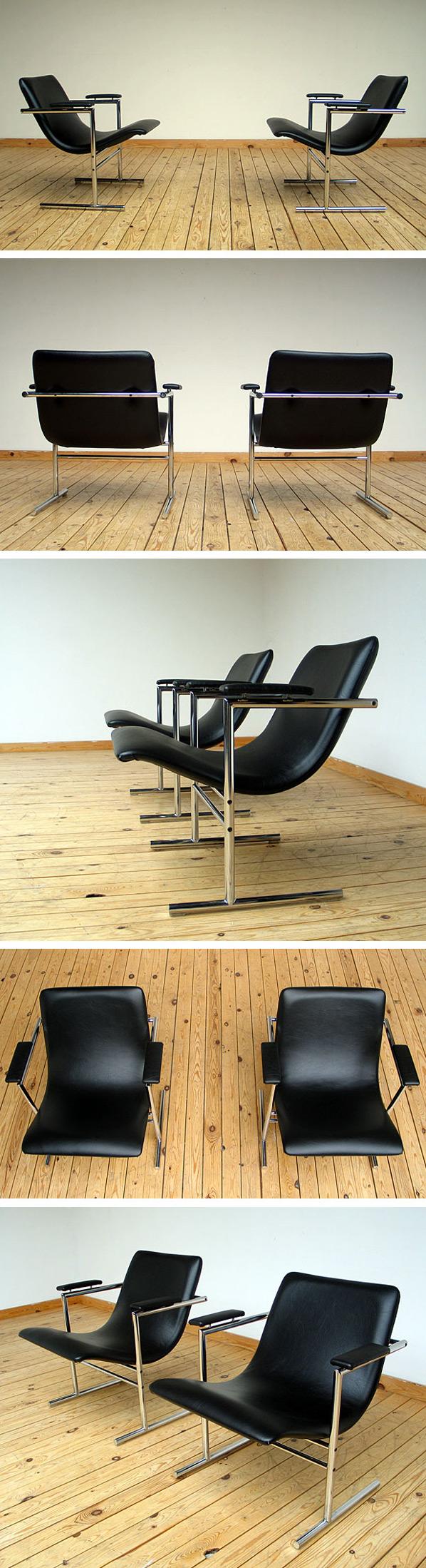 Pair of Rudi Verelst easy chair for Novalux Large