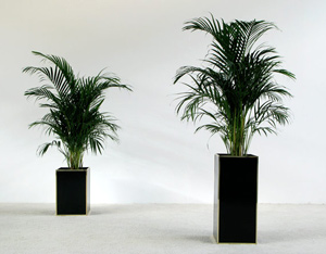 Pair of square planters circa 1970