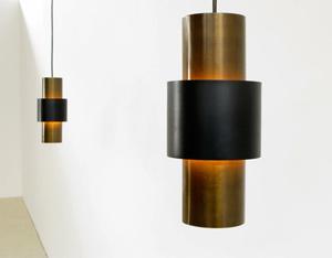 Pair of Tunika pendant ceiling lamps Jo Hammerborg Fog & Mørup