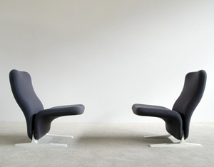 Pair Pierre Paulin Artifort F784 Concorde Chairs
