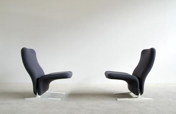 Pair Pierre Paulin Artifort F784 Concorde Chairs