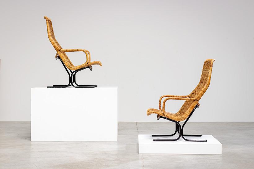 Pair rattan lounge chairs Dirk van Sliedregt for Gebr. Jonkers 1960 img 9