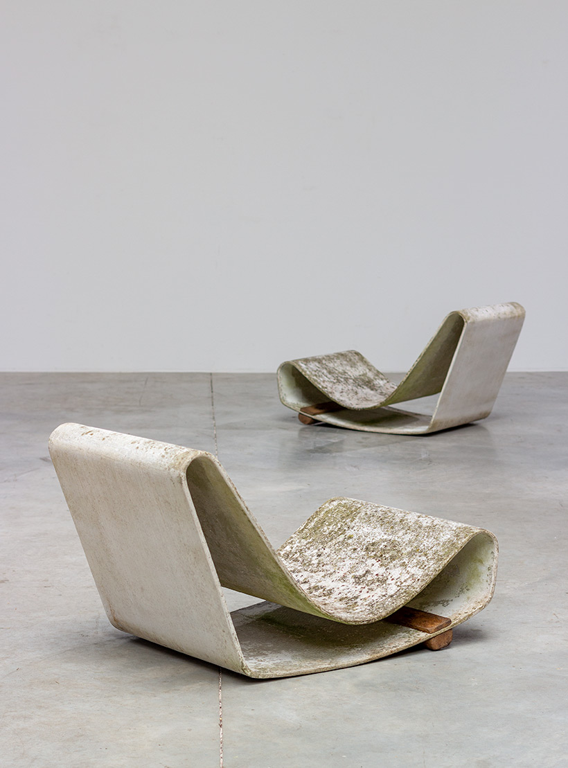 Pair Willy Guhl loop chairs for Eternit AG 1950s Switzerland img 5