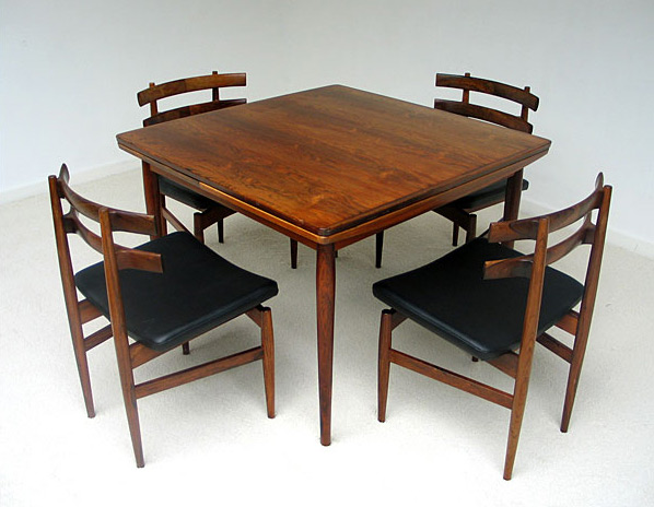 Palisander dinning table and chairs Ole Wanscher 1950