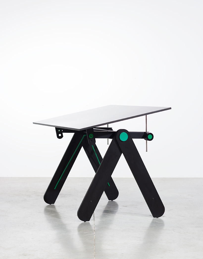 Paolo Parigi drawing table or desk architectural construction 1975 Italy img 4