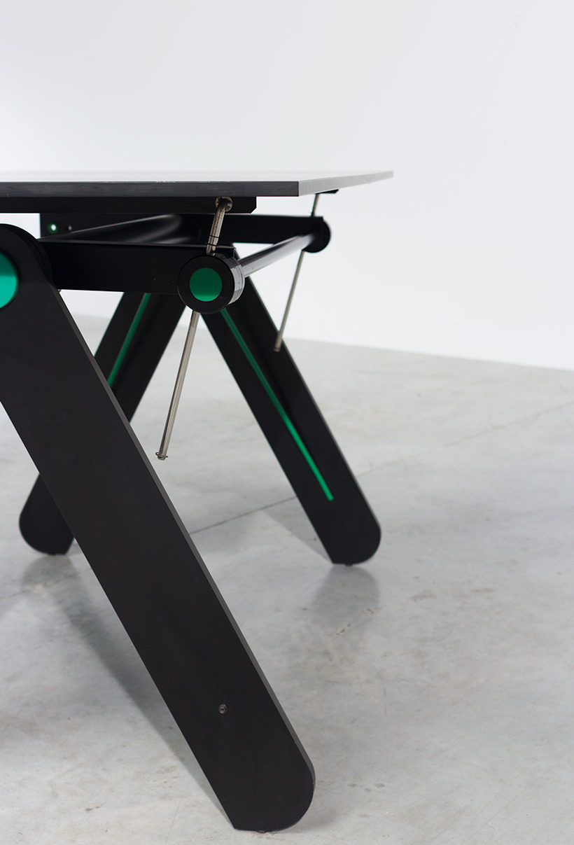 Paolo Parigi drawing table or desk architectural construction 1975 Italy img 9