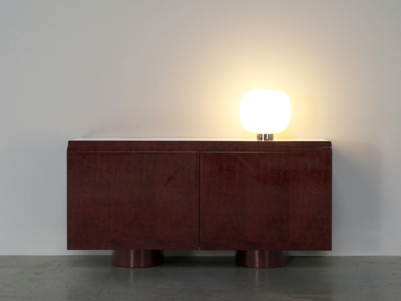 Paolo Tilche cubo glass table lamp Barbini Murano img 3