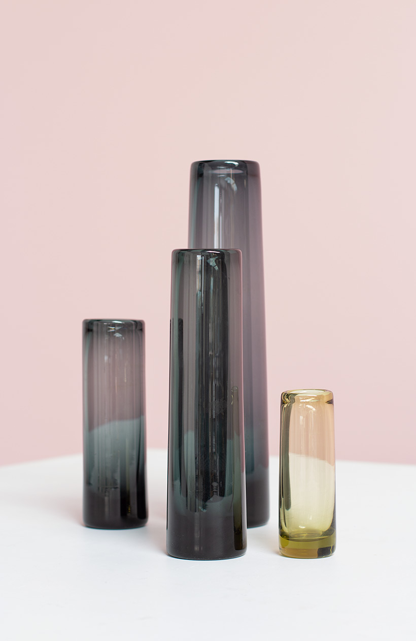 Per Lutken for Holmegaard set of four art glasses circa 1960 img 3