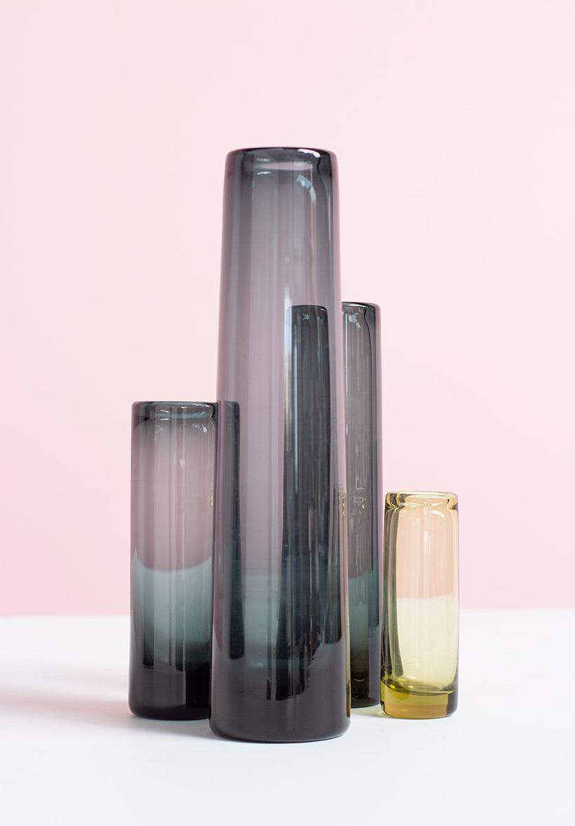 Per Lutken for Holmegaard set of four art glasses circa 1960 img 7