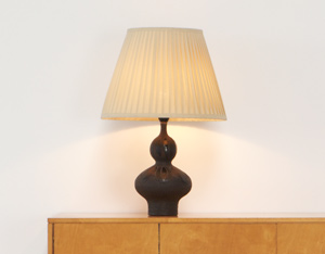Perignem Brown and Black ceramic table lamp