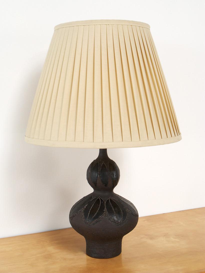 Perignem Brown and Black ceramic table lamp