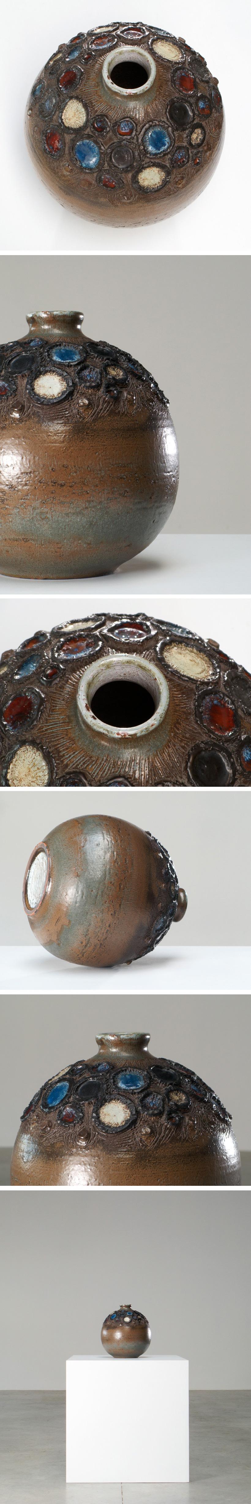 Perignem round shaped vase Belgian Ceramic Large