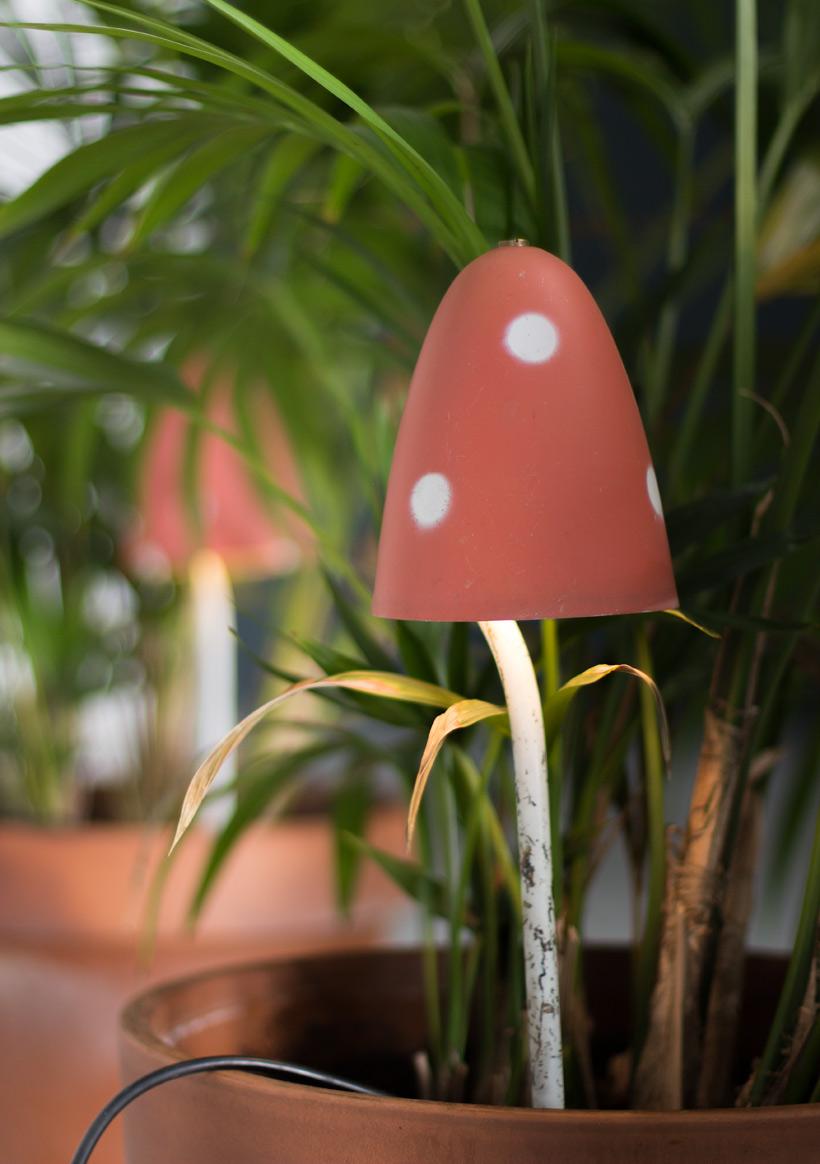Philips Pair of Mushroom floral lamps circa 1950