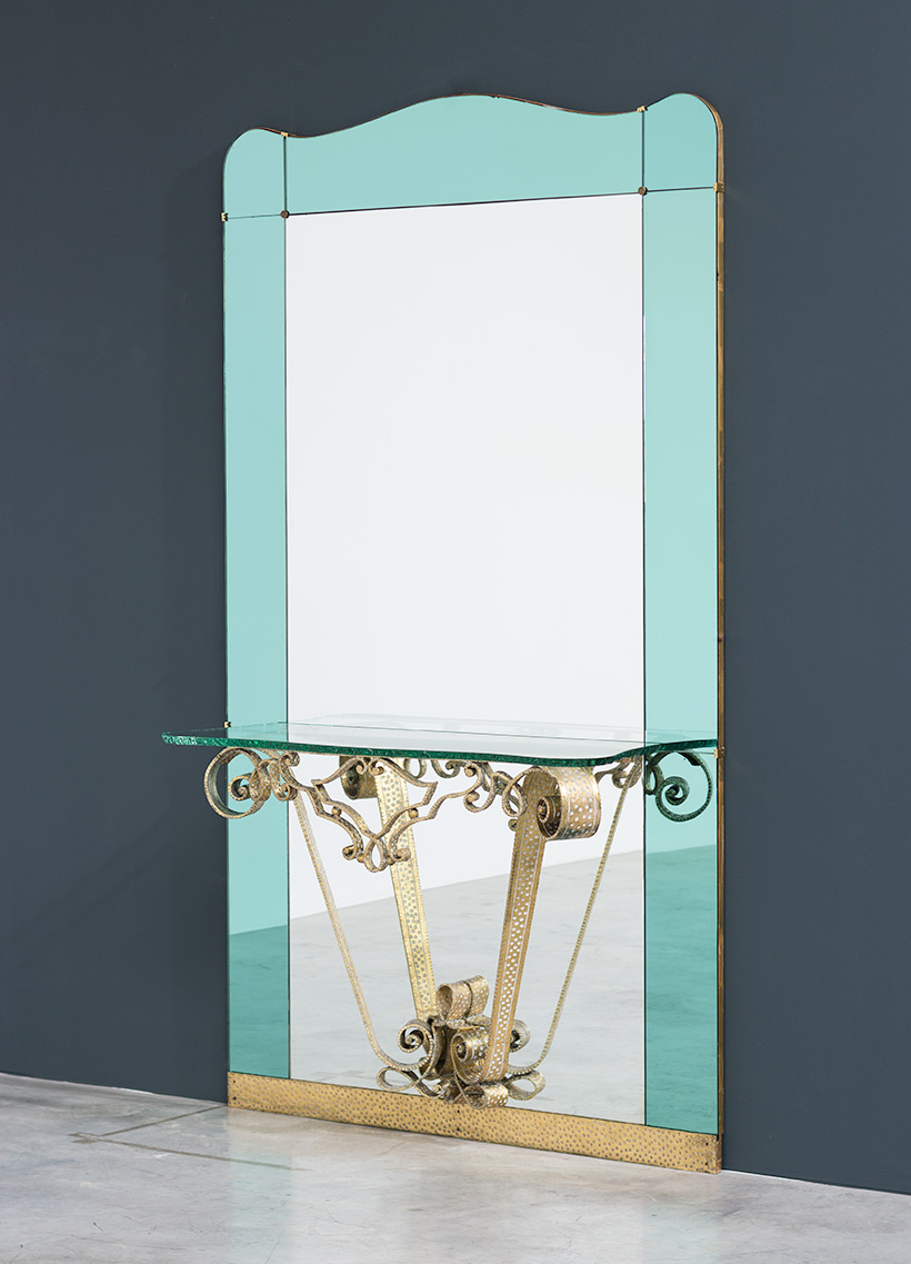 Pierluigi Colli mirror with console circa 1940