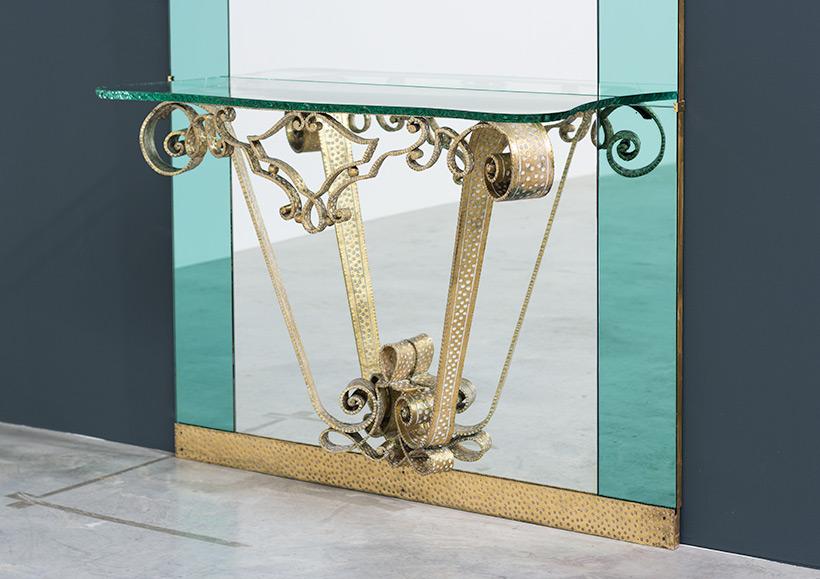 Pierluigi Colli mirror with console circa 1940 img 3