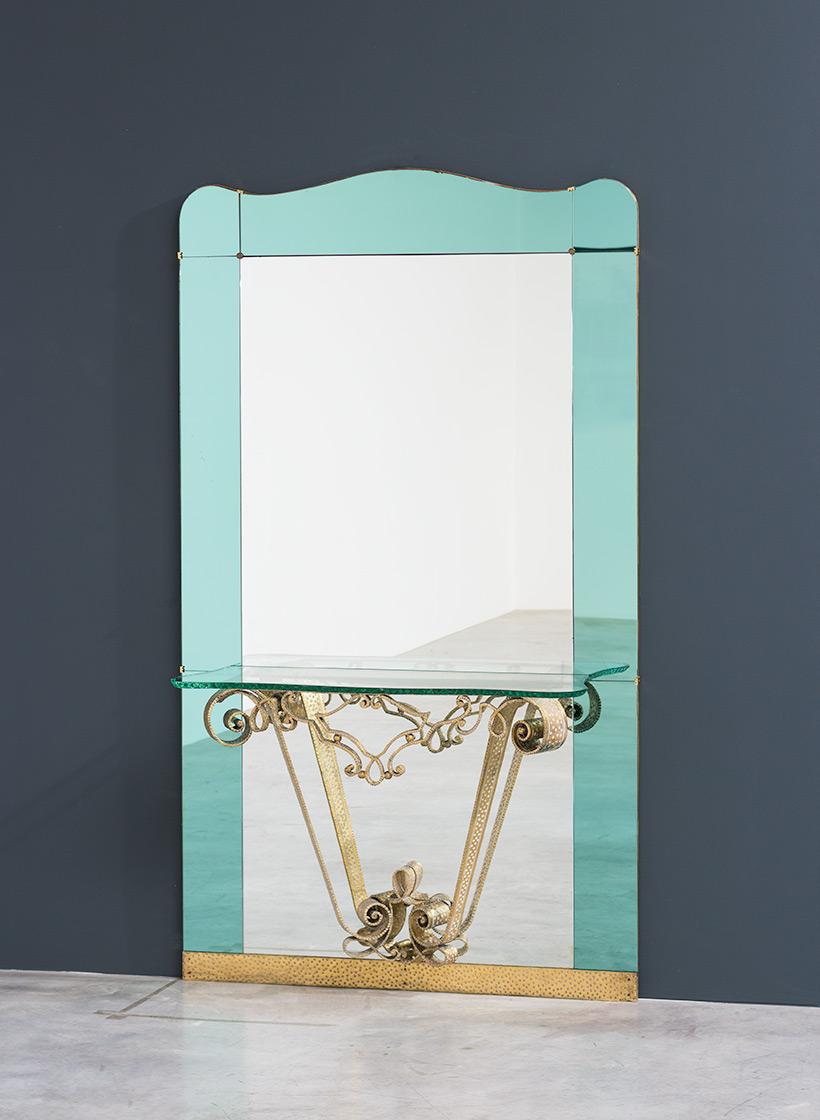 Pierluigi Colli mirror with console circa 1940 img 7