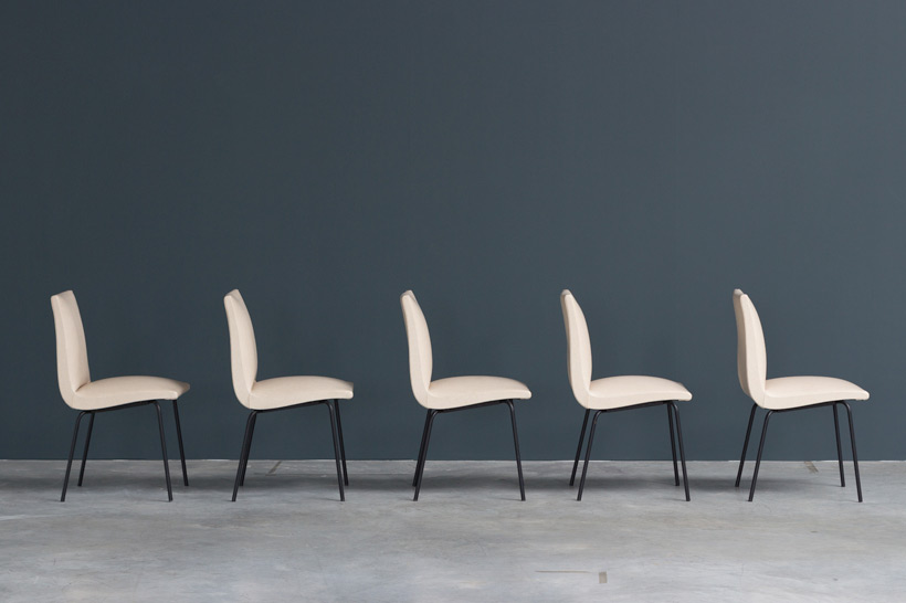 Pierre Guariche 5 dinning chairs for Meurop Large