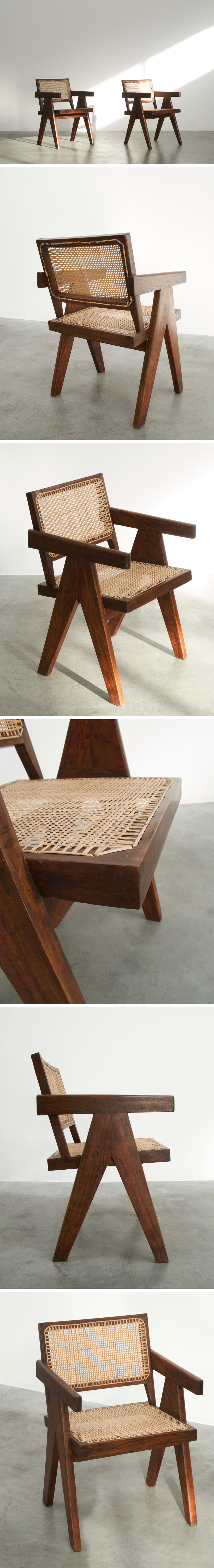Pierre Jeanneret Armchair Chandigarh India 1955 Large
