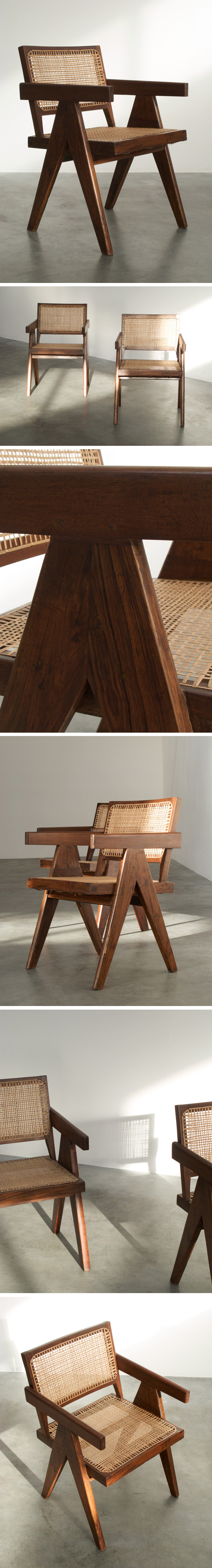 Pierre Jeanneret Armchair Chandigarh India Large