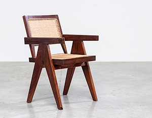 Pierre Jeanneret Armchair or office chair Chandigarh India 1950