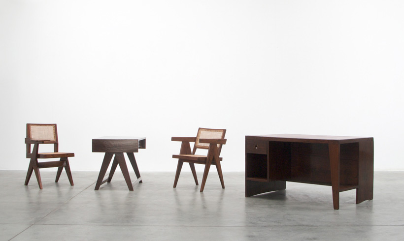 Pierre Jeanneret Office Desk with Bookcase Chandigarh India Large