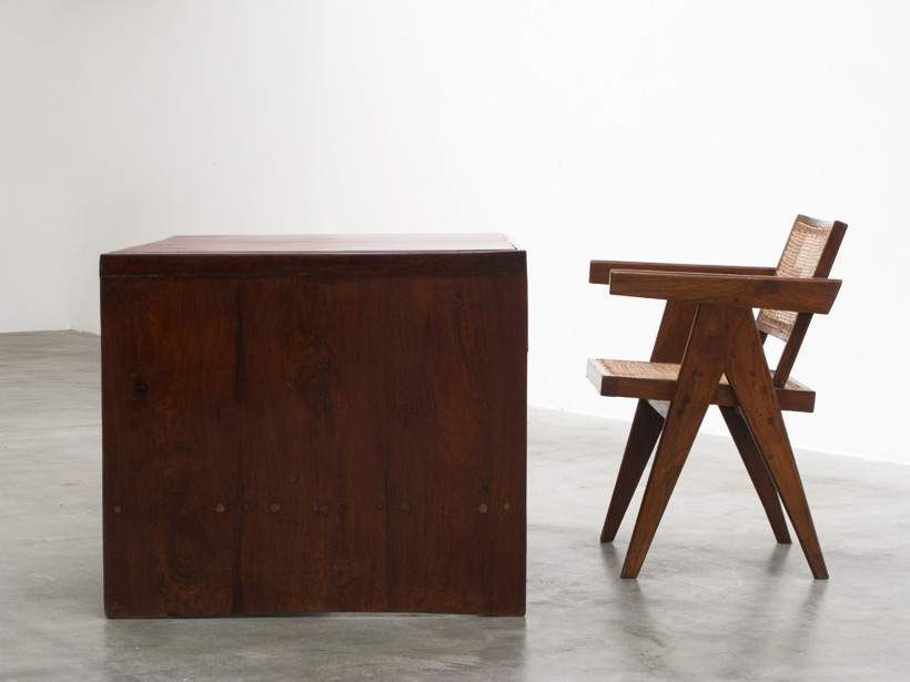 Pierre Jeanneret Office Desk with Bookcase Chandigarh India img 4