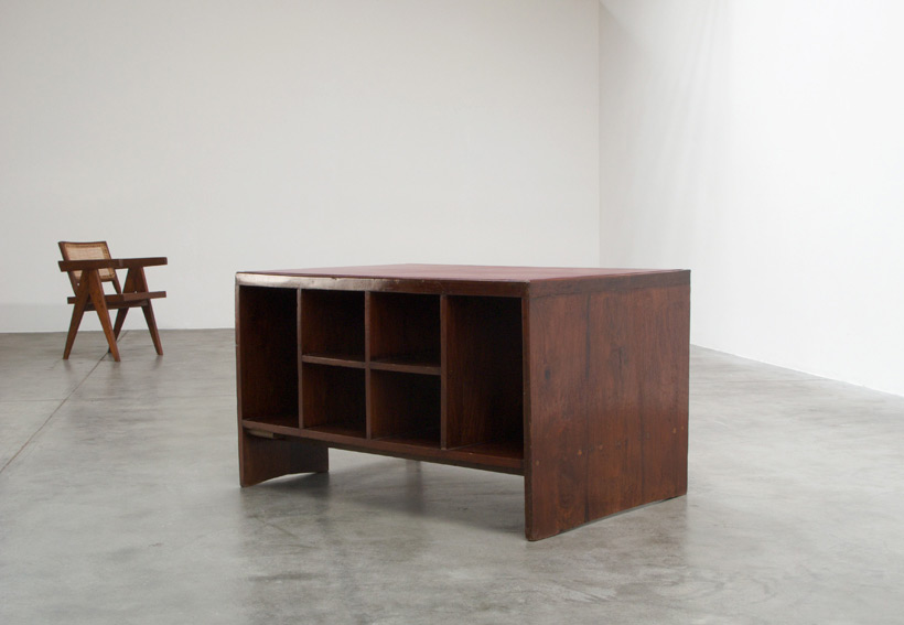 Pierre Jeanneret Office Desk with Bookcase Chandigarh India img 6