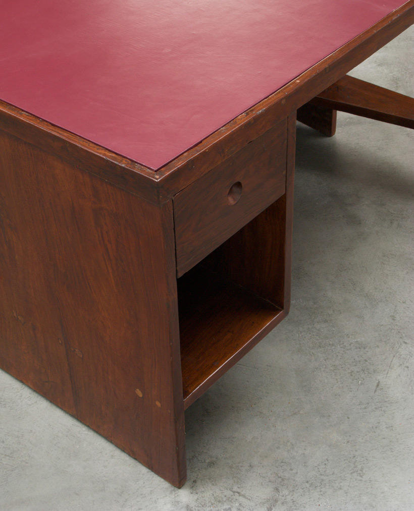 Pierre Jeanneret Office Desk with Bookcase Chandigarh India img 8