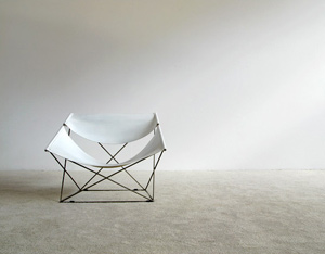 Pierre Paulin Artifort F675 White Butterfly chair
