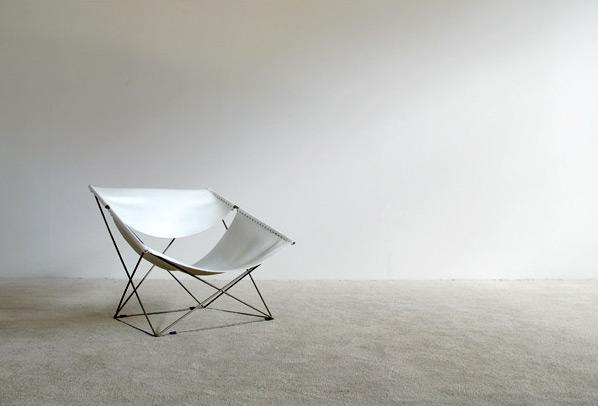 Pierre Paulin Artifort F675 White Butterfly chair