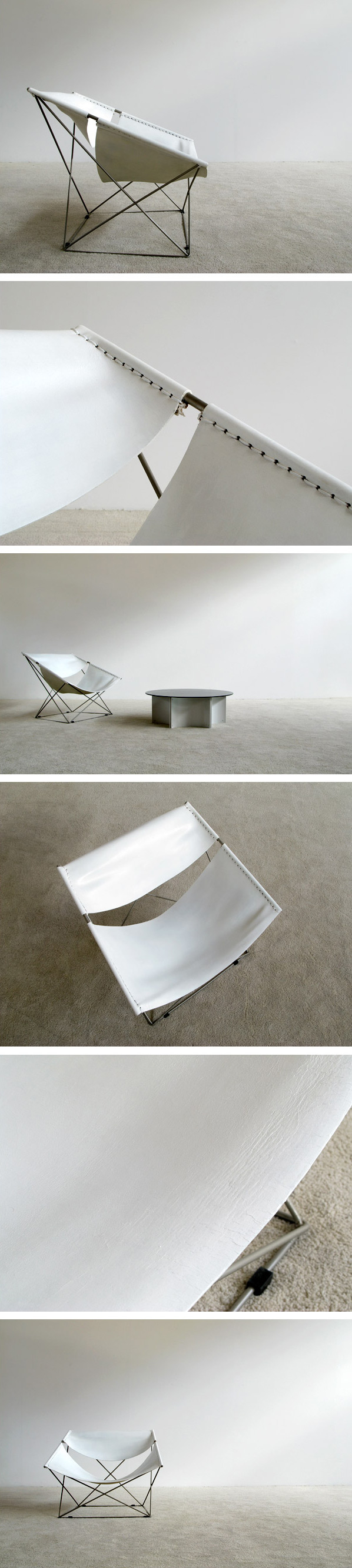 Pierre Paulin Artifort F675 White Butterfly chair Large