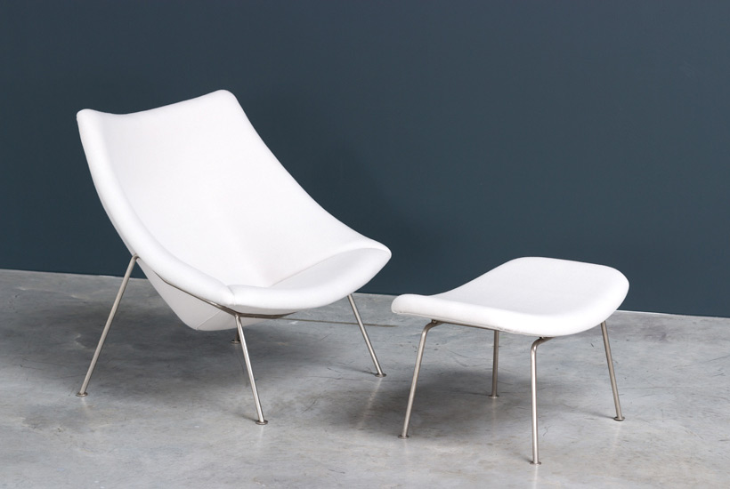 Pierre Paulin pair of Oyster F159 lounge chairs and ottoman Artifort img 7