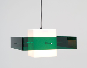 Plexiglass Pendant light and sconce 1970