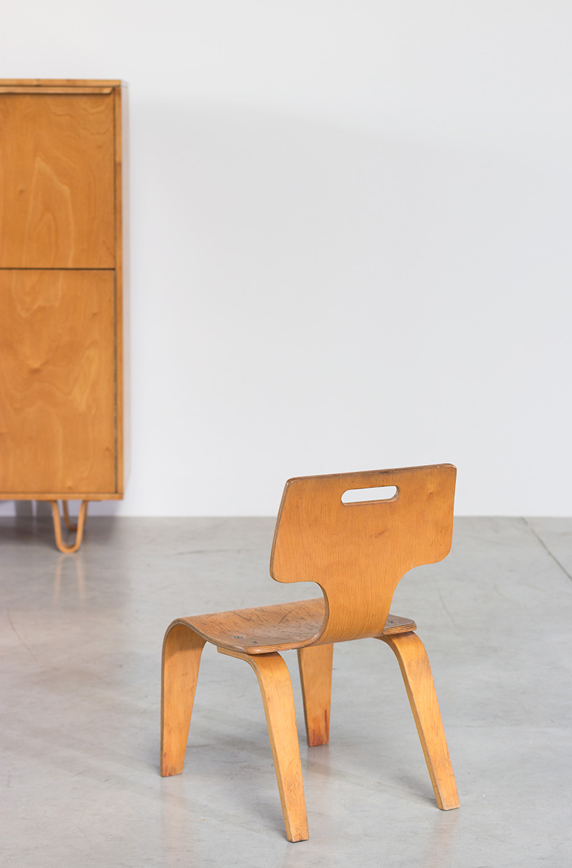 Plywood children chair by Toy Labs Michigan circa 1955 img 5