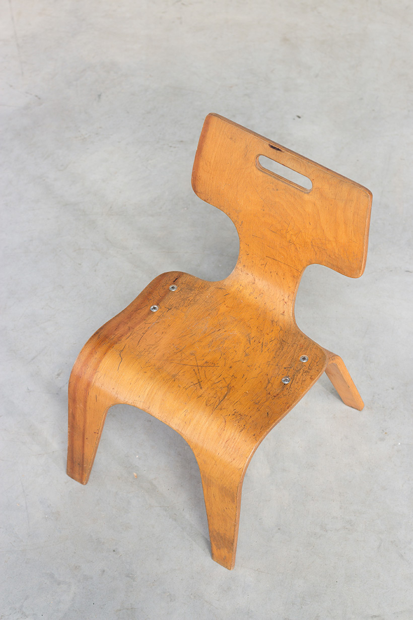 Plywood children chair by Toy Labs Michigan circa 1955 img 6