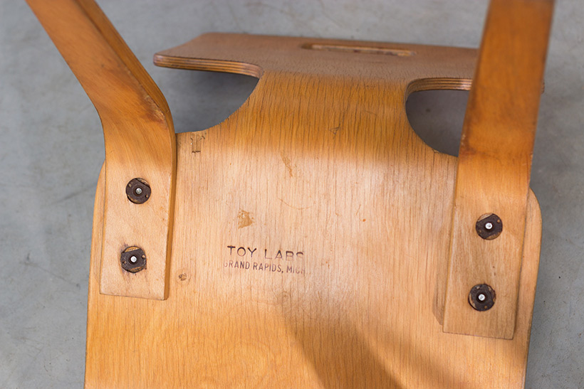 Plywood children chair by Toy Labs Michigan circa 1955 img 7