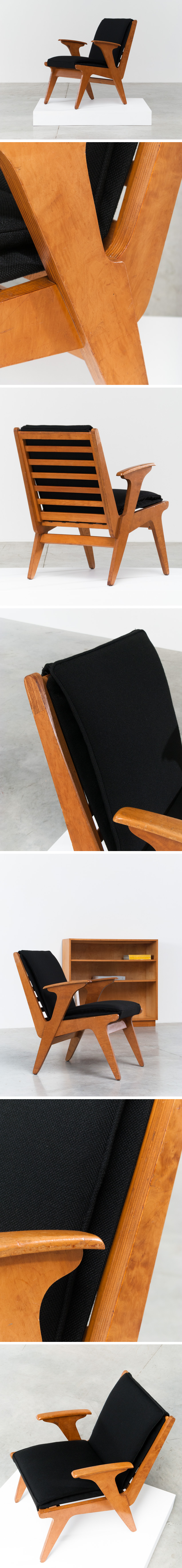 Plywood side chair Sliedrecht Spectrum Large
