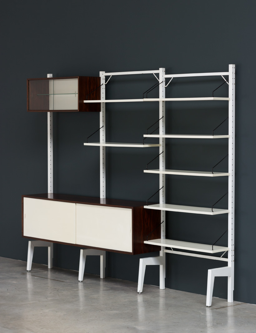 Poul Cadovius Off White Wall Unit Royal System