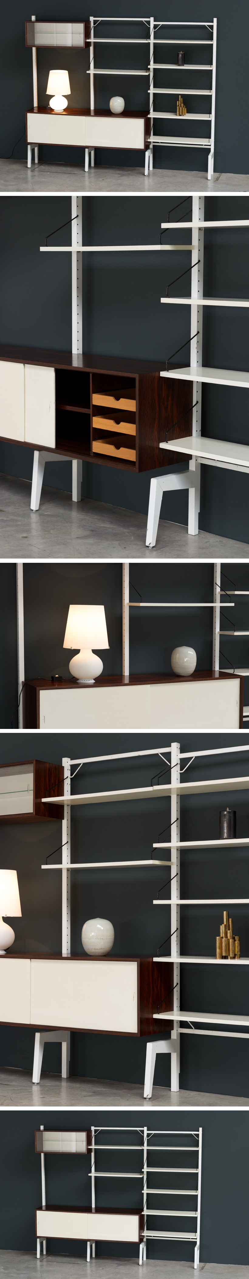 Poul Cadovius Off White Wall Unit Royal System Large