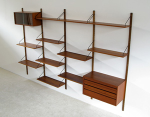 Poul Cadovius Royal System teak Wall Unit