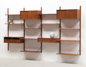 Poul Cadovius teak Wall Unit for Royal System
