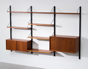 Poul Cadovius teak Wall Unit with desk for Royal System