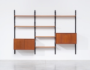 Poul Cadovius Teak Wall Unit with desk Royal System