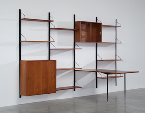 Poul Cadovius teak Wall Unit with table for Royal System