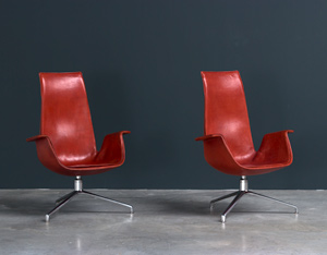 Preben Fabricius and Jorgen Kastholm pair Bird chairs