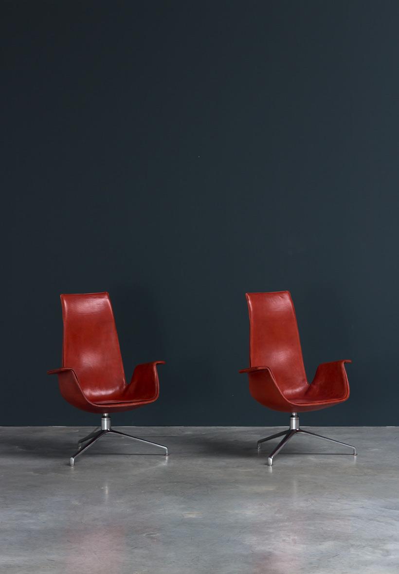 Preben Fabricius and Jorgen Kastholm pair Bird chairs