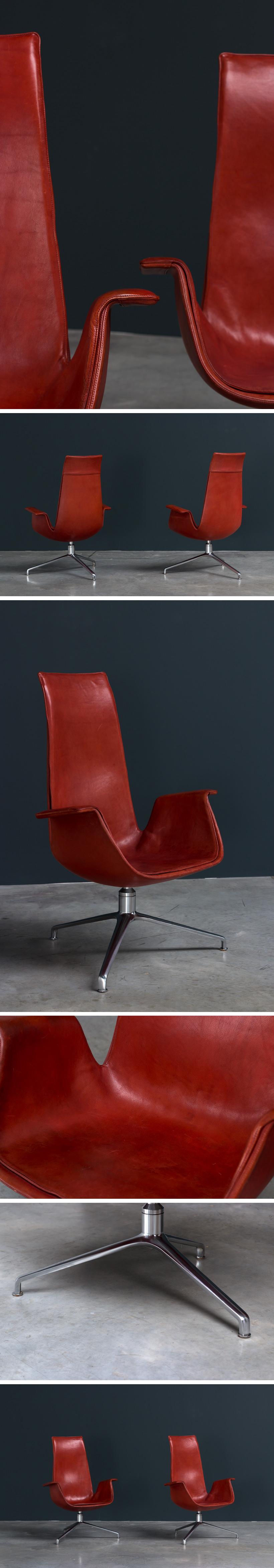 Preben Fabricius and Jorgen Kastholm pair Bird chairs Large